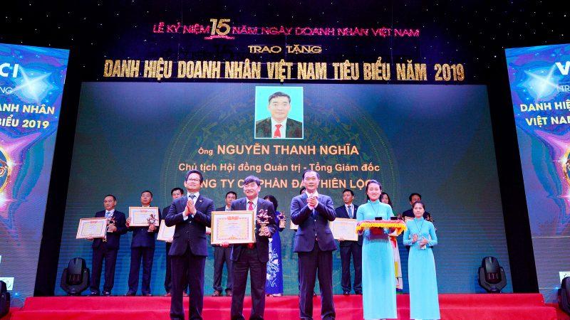 Ông Nguyễn Thanh Nghĩa nhận Giải thưởng Doanh nhân tiêu biểu Việt Nam năm 2019